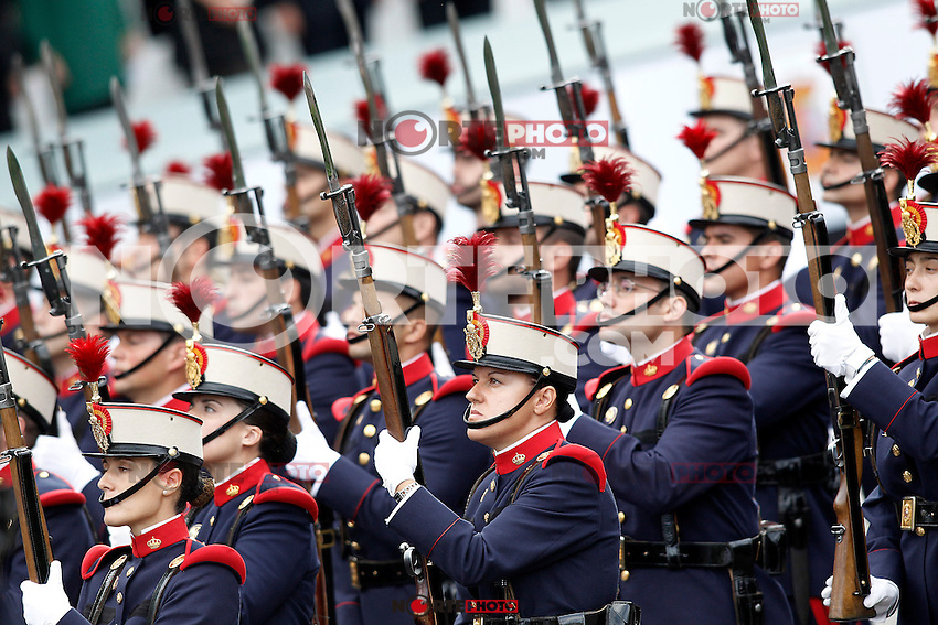 Members of the Royal Guard during the National Day Military Parad.October 12,2012.(ALTERPHOTOS/Acero) /NortePhotoAgency