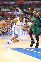 12/27/12 Los Angeles, CA: Los Angeles Clippers point guard Chris Paul #3 during an NBA game between the Los Angeles Clippers and the Boston Celtics played at Staples Center. The Clippers defeated the Celtics 106-77 for their 15th straight win.