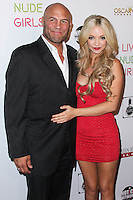 HOLLYWOOD, LOS ANGELES, CA, USA - AUGUST 12: Randy Couture, Mindy Robinson at the Los Angeles Premiere Of Screen Media Films' 'Live Nude Girls' held at Avalon on August 12, 2014 in Hollywood, Los Angeles, California, United States. (Photo by Xavier Collin/Celebrity Monitor)