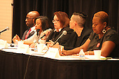 5th Ward Aldermanic candidates, Jedidah Brown, Tiffany Brooks, Anne Marie Miles, Jocelyn Hare and Robyn Boyd Clarke squared off Tuesday evening during an open forum at Apostolic Church of God located at 63rd and Dorchester.