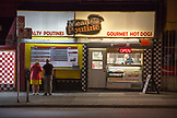 CANADA, Vancouver, British Columbia, Mean Poutine restaurant on Nelson Street just up from Granville Street