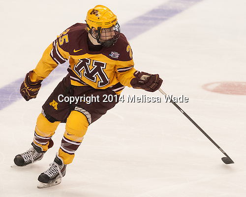 Justin Kloos (MN - 25) - The University of Minnesota Golden Gophers defeated the University of North Dakota 2-1 on Thursday, April 10, 2014, at the Wells Fargo Center in Philadelphia to advance to the Frozen Four final.