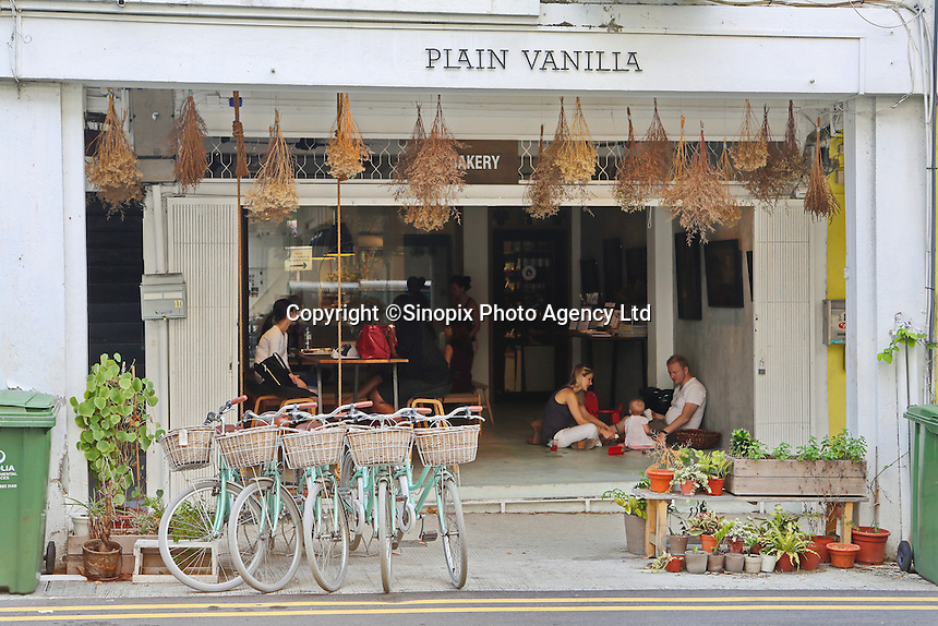 The Plain Vanilla Cafe on the popular Tiong Bahru Cafe street in Singapore. <br /> <br /> photo by  / Richard Koh sinopix