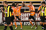 28 March 2007: Teammates congratulate Houston's Ryan Cochrane (second from right) following his 17th minute goal, which gave Houston a 1-1 lead. The Houston Dynamo tied the Charleston Battery 1-1 at Blackbaud Stadium in Charleston, South Carolina in a Carolina Challenge Cup preseason match.
