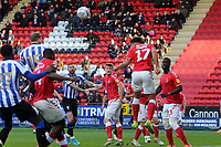 Macauley Bonne of Charlton Athletic clears during Charlton Athletic vs Sheffield Wednesday, Sky Bet EFL Championship Football at The Valley on 30th November 2019