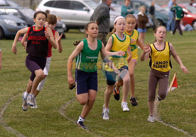 August 13, 2006 - Boyne AC Sports Day held at Drogheda, County Louth.Participants in the Girls Under 12 300 metres..Photo: BARRY CRONIN/Newsfile..(Photo credit should read BARRY CRONIN/NEWSFILE).