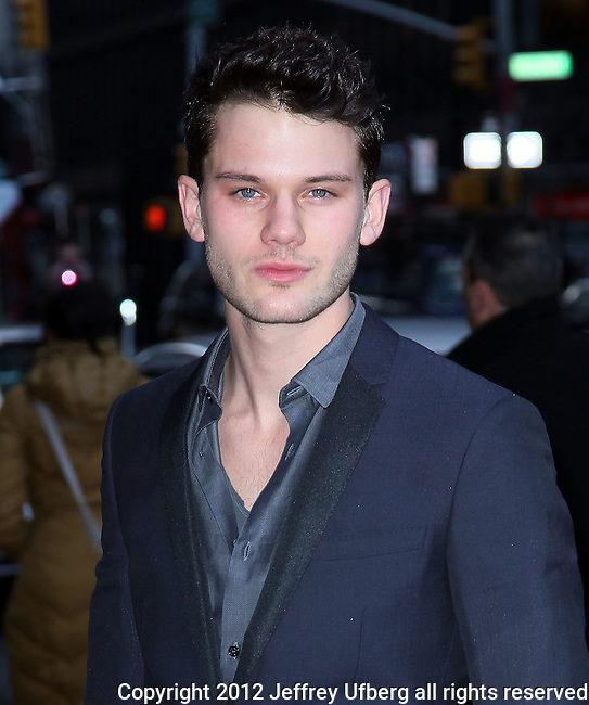 "New York, January 5, 2012: Actor Jeremy Irvine visits ""Late Show with David Letterman"" at Ed Sullivan Theatre on January 5, 2012 in New York City."