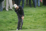 Padraig Harrington chips onto the 3rd green during the 3rd round of the BMW PGA Championship at Wentworth Club, Surrey, England 26th may 2007 (Photo by Eoin Clarke/NEWSFILE)