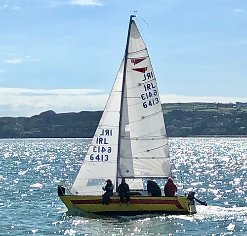 Neil Murphy on the helm of Yellow Peril.