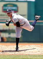 May 30,2010: Starting Pitcher Shaeffer Hall of the Tampa Yankees, delivers a pitch during a game at McKenhnie Field in Bradenton Fl. Tampa is the Florida State League High Class-A affiliate of the New York Yankees. Photo By Mark LoMoglio/Four Seam Images