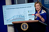 Ambassador Deborah L. Birx, M.D., White House Coronavirus Response Coordinator, speaks during a news conference in the Brady Press Briefing Room of the White House in Washington, D.C., U.S., on Friday, May 22, 2020. United States President Donald J. Trump did not wear a face mask during most of his tour of Ford Motor Co.'s ventilator facility Thursday, defying the automaker's policies and seeking to portray an image of normalcy even as American coronavirus deaths approach 100,000. <br /> Credit: Andrew Harrer / Pool via CNP