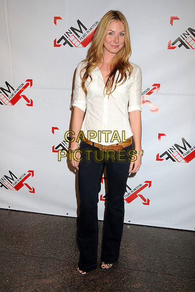"VANESSA EVIGAN .""Blood Out"" Los Angeles Premiere held at the DGA, West Hollywood, California, USA, 25th April 2011..full length white shirt jeans belt .CAP/ADM/BP.©Byron Purvis/AdMedia/Capital Pictures."
