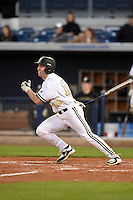 Vanderbilt Commodores outfielder Nolan Rogers (18) at bat during a game against the Indiana State Sycamores on February 20, 2015 at Charlotte Sports Park in Port Charlotte, Florida.  Vanderbilt defeated Indiana State 3-2.  (Mike Janes/Four Seam Images)