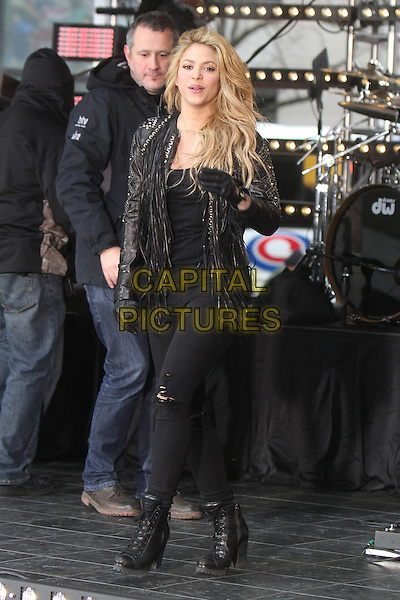 NEW YORK, NY - MARCH 26: Shakira performs on NBC's Today Show at Rockefeller Center in New York City on March 26, 2014. <br /> CAP/MPI/RW<br /> &copy;RW/ MediaPunch/Capital Pictures