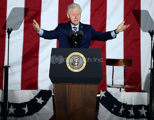 PHILADELPHIA, PA - NOVEMBER 7: Bill Clinton at the GOTV Rally in support of Hillary Clinton for President at Independence Mall in Philadelphia, Pennsylvania on November 7, 2016. Credit: Dennis Van Tine/MediaPunch