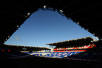 A general view of shadows falling onto the seating in the stands of the Cardiff City Stadium prior to kick off of the Sky Bet Championship match between Cardiff City and Aston Villa at The Cardiff City Stadium, Cardiff, Wales, UK. Monday 02 January 2017