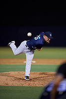 Tampa Tarpons relief pitcher Kyle Zurak (25) during a Florida State League game against the Daytona Tortugas on May 17, 2019 at George M. Steinbrenner Field in Tampa, Florida.  Daytona defeated Tampa 8-6.  (Mike Janes/Four Seam Images)