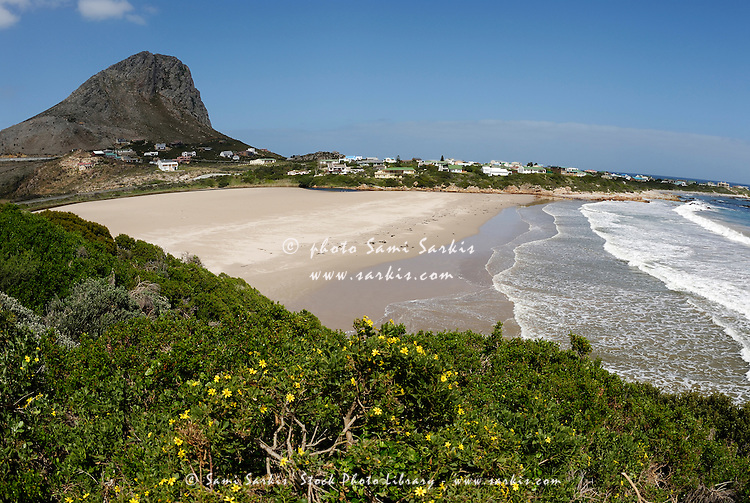 Beach and village between Gordon's Bay and Betty's Bay on road R44, South Western Cape, South Africa