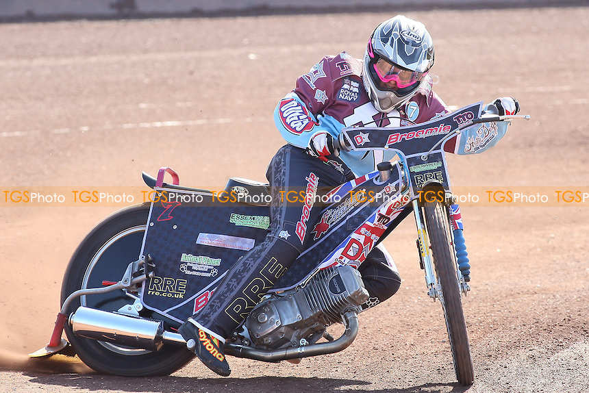 Robert Mear of Lakeside Hammers in riding action - Lakeside Hammers Speedway Press & Practice Day at Arena Essex Raceway, Purfleet, Essex - 23/03/11 - MANDATORY CREDIT: Gavin Ellis/TGSPHOTO - Self billing applies where appropriate - Tel: 0845 094 6026