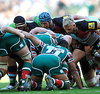 Aviva Premiership Final .Twickenham, England. Joe Gray of Harlequins and Joe Marler of Harlequins during the AVIVA Premiership Final between Harlequins and Leicester Tigers at Twickenham Stadium on May 26, 2012 in London, United Kingdom.