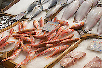 On a street market. Fish market. Thessaloniki, Macedonia, Greece
