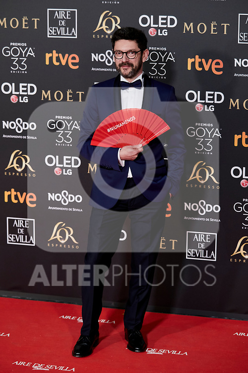 Manolo Solo attends to 33rd Goya Awards at Fibes - Conference and Exhibition  in Seville, Spain. February 02, 2019. (ALTERPHOTOS/A. Perez Meca)