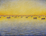Setting Sun. Sardine Fishing. Adagio. Opus 221, 1891<br /> Paul Signac (1863&ndash;1935), oil on canvas