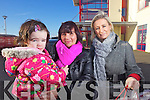 Lucy and Karen McKenna and Noreen Cronin Christmas shopping in Castleisland on Thursday.