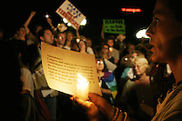 On September 2nd, 2004 as George W. Bush accepted his party's nomination for the office of the presidency at the Republican National Convention in New York City, thousands gathered in Union Square for a candlelight vigil in protest of Bush and the convention being held in New York in general.
