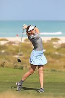 Olivia Cowen (GER) during the second round of the Fatima Bint Mubarak Ladies Open played at Saadiyat Beach Golf Club, Abu Dhabi, UAE. 11/01/2019<br /> Picture: Golffile | Phil Inglis<br /> <br /> All photo usage must carry mandatory copyright credit (© Golffile | Phil Inglis)