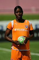 Anita Asante (5) of Sky Blue FC. Sky Blue FC defeated the Boston Breakers 1-0 during a Women's Professional Soccer match at Yurcak Field in Piscataway, NJ, on July 4, 2009.