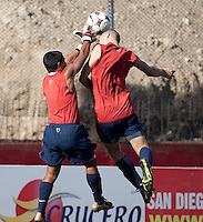 Marlon Duran and Eriq Zavaleta training before the 2009 CONCACAF Under-17 Championship From April 21-May 2 in Tijuana, Mexico