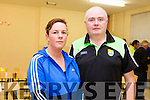 Joanne and Noel O'Connor from Ahamore pictured in Killahan National School on Thursday evening at the community meeting against the wind turbine planned for the area.