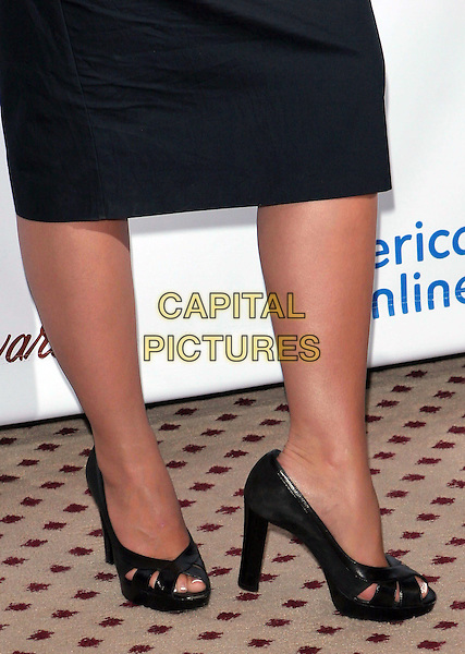 "JENNIFER LOVE HEWITT'S SHOES.AOL Television Announcement of the Nominees for the ""2005 TV's TOP 5! Viewer Awards"" Awards"" held at the Beverly Hills Hilton, Beverly Hills, CA..July 11th, 2005.Photo credit: Jacqui Wong/AdMedia.feet heels black.www.capitalpictures.com.sales@capitalpictures.com.© Capital Pictures."