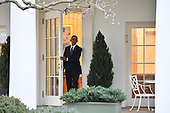 United States President Barak Obama leaves the White House for the final time as President as the nation prepares for the inauguration of President-elect Donald Trump on January 20, 2017 in Washington, D.C.  Trump becomes the 45th President of the United States.    <br /> Credit: Kevin Dietsch / Pool via CNP