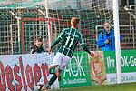 26.10.2019, Stadion Lohmühle, Luebeck, GER, Regionalliga Nord VFB Lübeck/Luebeck vs Hannover 96 II <br /> <br /> DFB REGULATIONS PROHIBIT ANY USE OF PHOTOGRAPHS AS IMAGE SEQUENCES AND/OR QUASI-VIDEO.<br /> <br /> im Bild / picture shows<br /> Tor zum 4:0 . Torschütze/Torschuetze Nicolas Hebisch (VfB Luebeck) trifft zum 4:0 <br /> <br /> Foto © nordphoto / Tauchnitz