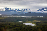 USA, Alaska, Anchorage, the view from inside the float plane on the trip from Anchorage to Redoubt Bay