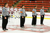 Landon Bathe, Dean Gilbert, Jean-Yves Roy and Michael Pleau did not need Harvard's new goal video review system. - Sweden's Under-20 team defeated the Harvard University Crimson 2-1 on Monday, November 1, 2010, at Bright Hockey Center in Cambridge, Massachusetts.