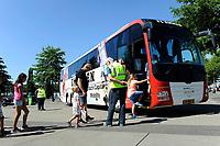 EMMEN - Opendag FC Emmen , Oude Meerdijk, seizoen 2018-2019, 15-07-2018,  bus Emmen kon worden bekeken
