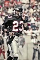 Bobby Butler, #23, Atlanta Falcons, Atlanta Falcons at Tampa Bay Buccaneers.  The Bucs beat the Falcons 23-17  at Tampa Stadium on December 2, 1990, Tampa, Florida.  (Photo by Brian Cleary/bcpix.com)