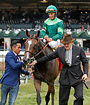 LEXINGTON, KY - April 14, 2018. #7 Sistercharlie (IRE) and jockey John Velazquez win the 30th running of The Coolmore Jenny Wiley Grade 1 $350,000 for owner Peter Brant and trainer Chad Brown at Keeneland Race Course.  Lexington, Kentucky. (Photo by Candice Chavez/Eclipse Sportswire/Getty Images)