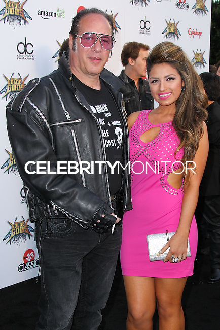 LOS ANGELES, CA, USA - APRIL 23: Andrew Dice Clay, Valerie Vasquez at the 2014 Revolver Golden Gods Award Show held at Club Nokia on April 23, 2014 in Los Angeles, California, United States. (Photo by Xavier Collin/Celebrity Monitor)