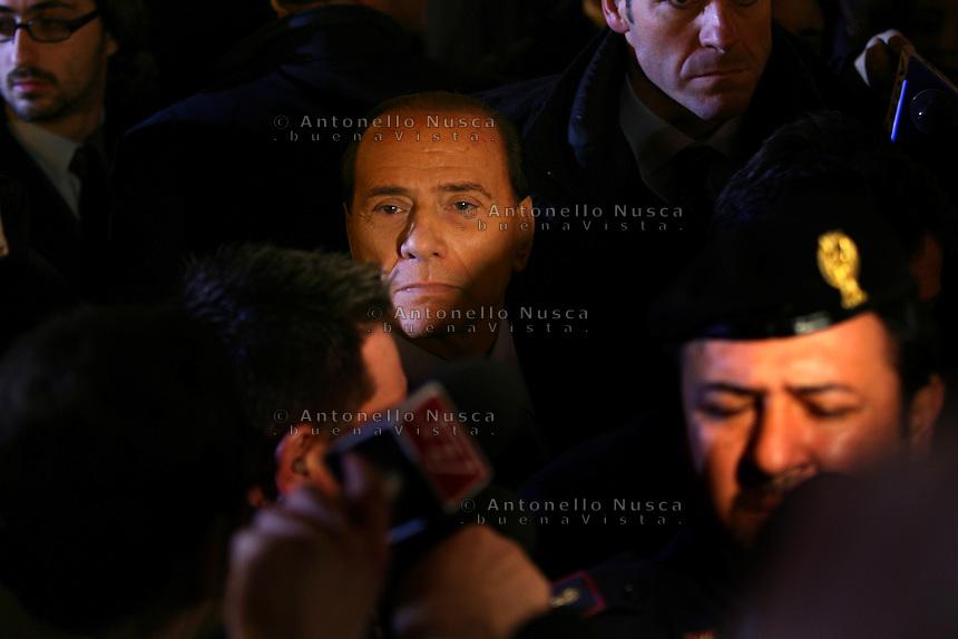 Roma, 9 febbraio 2006. Silvio Berlusconi all'inaugurazione di una galleria sul Raccordo Anulare