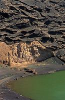 Europe/Espagne/Canaries/Lanzarote/Casas de El Golfo : La lagune verte
