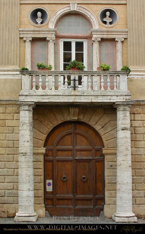 Palazzo del Vescovo Entrance, Bishop's Palace, Baldassare Peruzzi 1527, Siena, Italy