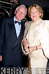 ..Gay Byrne who one of the many special guest at the Tralee Rose Ball with his wife Kathleen Walskins on Friday night in the Topaz Rose of Tralee Dome.. ....