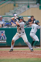 Dartmouth Big Green catcher Logan Adams (10) at bat during a game against the USF Bulls on March 17, 2019 at USF Baseball Stadium in Tampa, Florida.  USF defeated Dartmouth 4-1.  (Mike Janes/Four Seam Images)