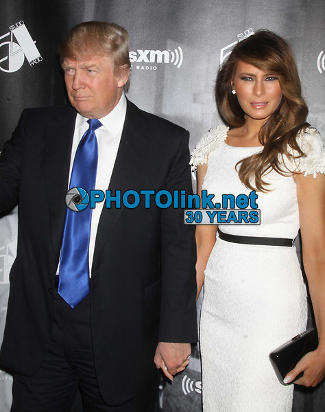 DONALD, MELANIA TRUMP<br /> at Sirius XM radio reopens Studio 54<br /> ''One Night Only'' 10-18-2011<br /> Photo By John Barrett/PHOTOlink.net.2011