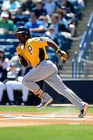 Pittsburgh Pirates outfielder Andrew McCutchen #22 during a Spring Training game against the New York Yankees at Legends Field on March 28, 2013 in Tampa, Florida.  (Mike Janes/Four Seam Images)