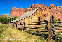 Historic Fruita barn in Capitol Reef, Utah.
